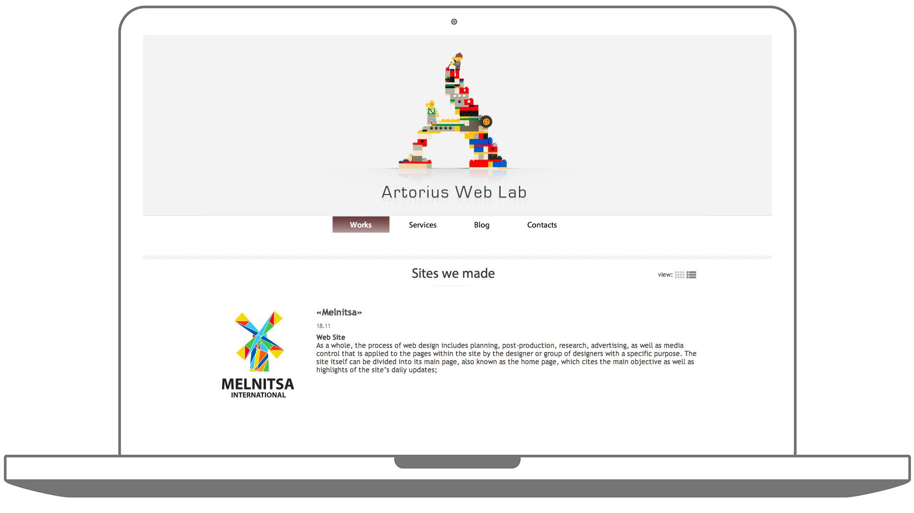 Портфолио студии Artorius Web Lab