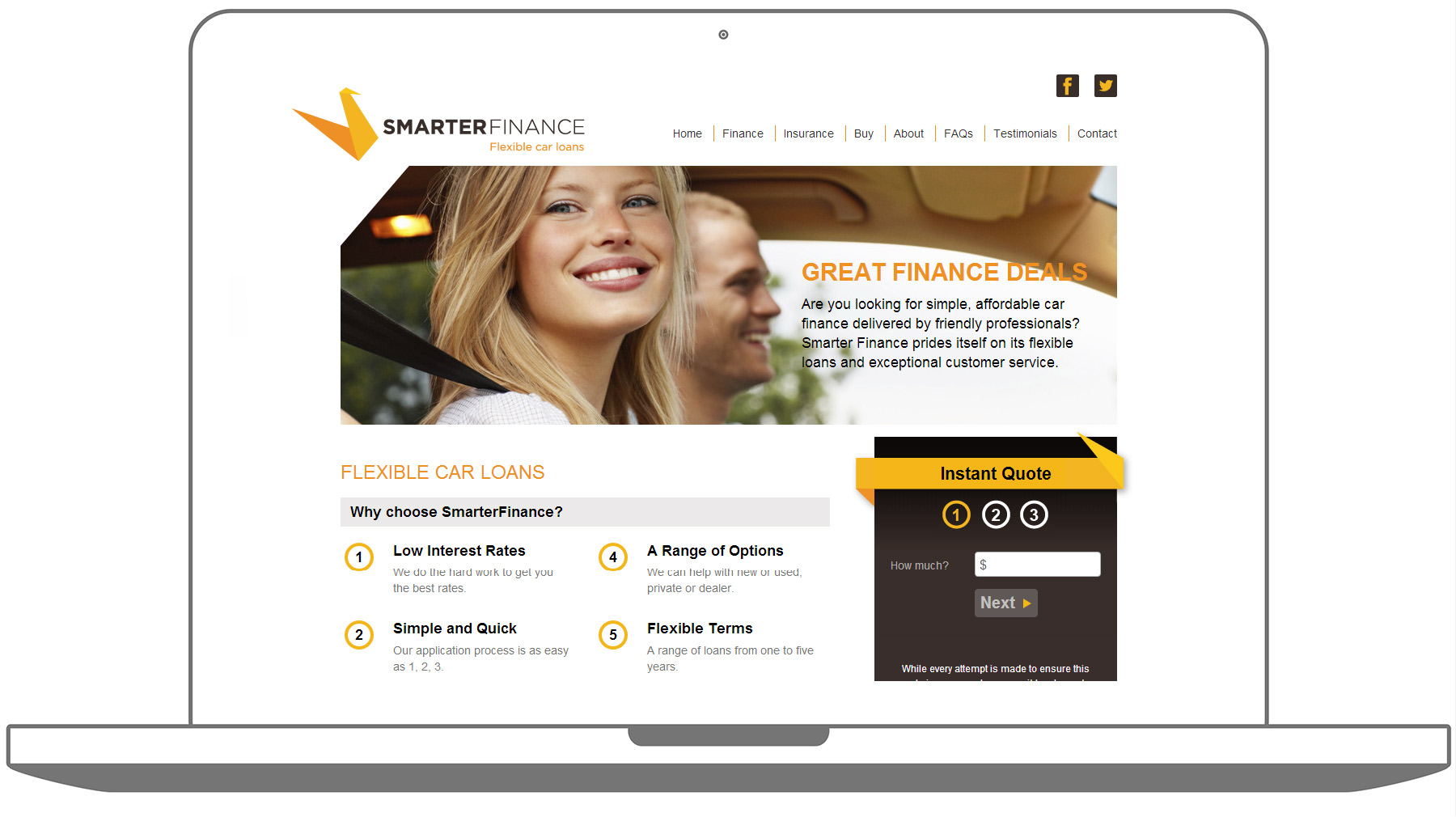 Smarter Finance главная страница сайта