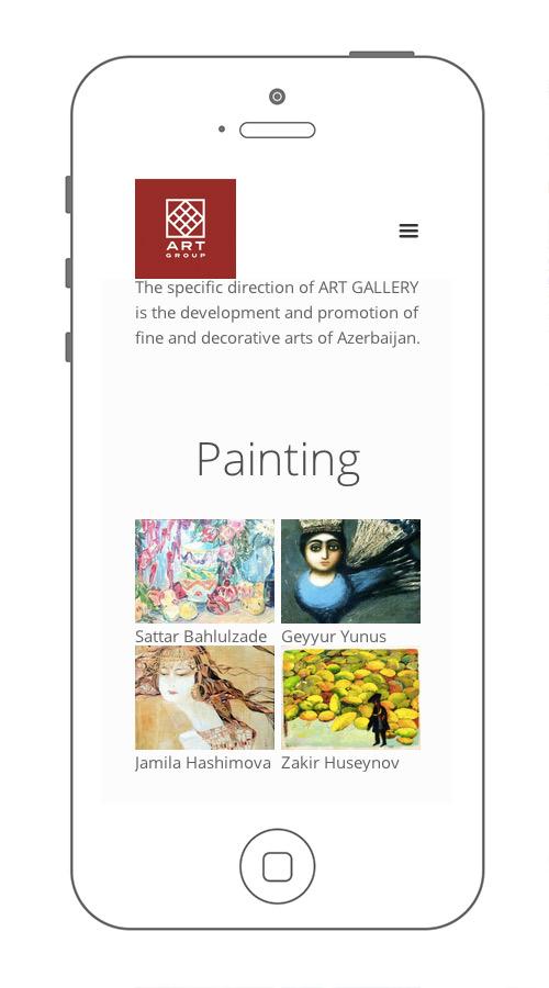 адаптивная версия сайта art group на iphone 5