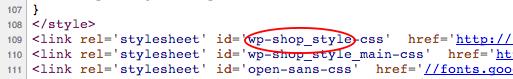 ID файла CSS в WordPress