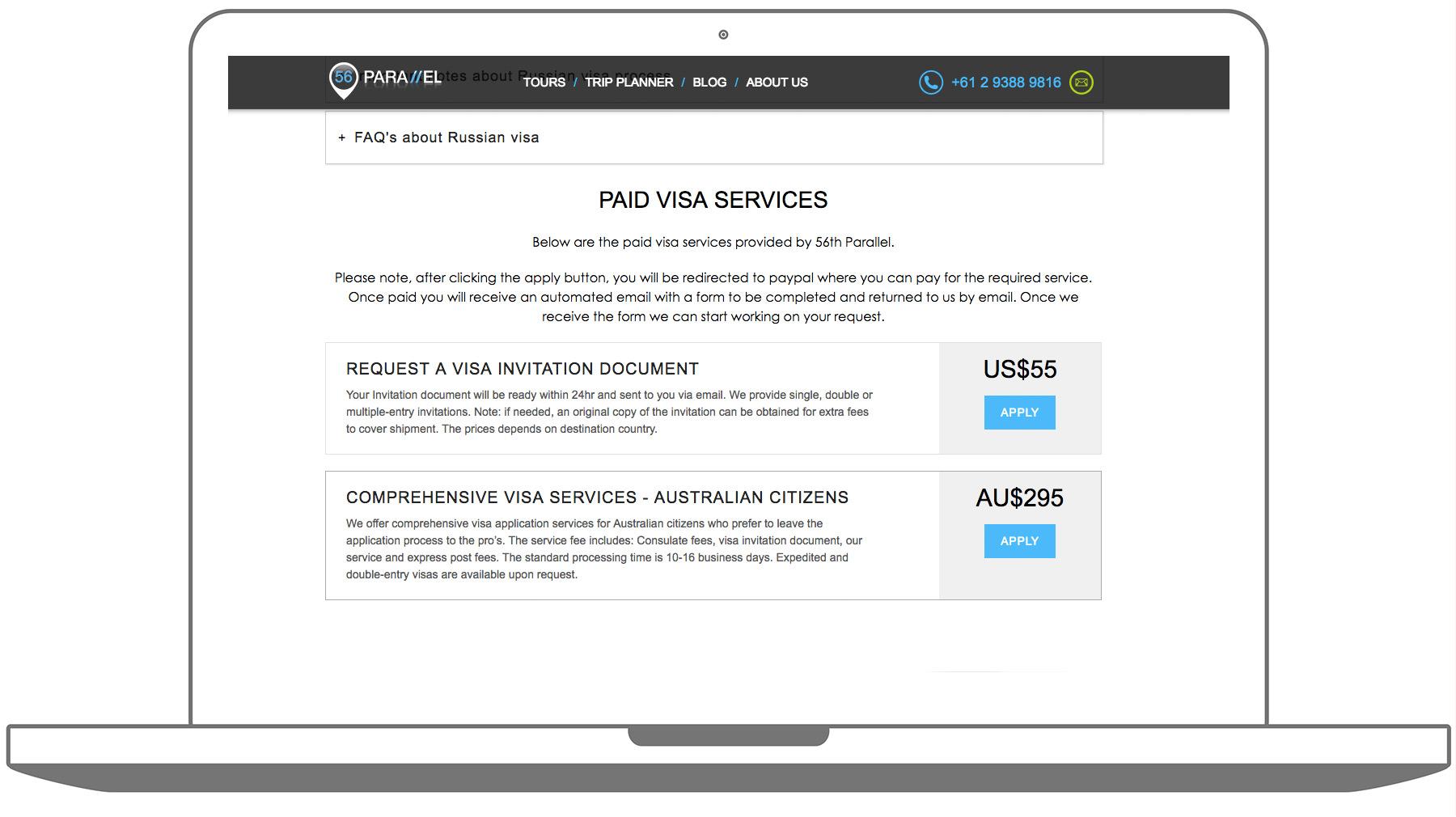 Онлайн-оплата услуг на сайте