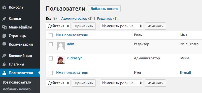 Несовпадение количества пользователей в админке WordPress